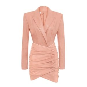 Pink Leather Dress Size Small
